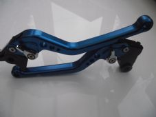 Aprilia FALCO/SL1000 (00-04), CNC levers long blue/chrome adjusters, DB80/DC80